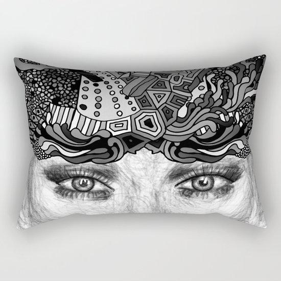 Courage Monotone Rectangular Pillow