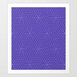 Plump Purple - violet - Modern Vector Seamless Pattern Art Print