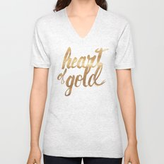 Heart of Gold Unisex V-Neck
