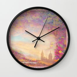 PARIS SACRE COEUR  Gold Wall Clock