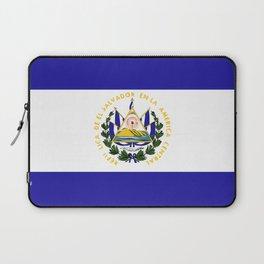 El Salvador flag emblem Laptop Sleeve