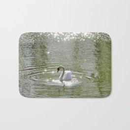 Sparkly Swan Lake Bath Mat