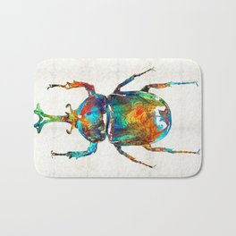 Colorful Beetle Art - Scarab Beauty - By Sharon Cummings Bath Mat