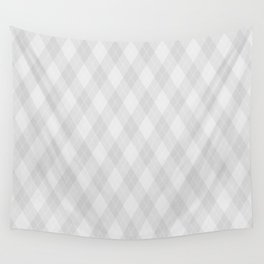 Argyle Fabric Pattern - Light Neutral Gray / Grey Wall Tapestry