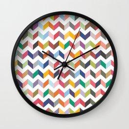 Aztec Geometric Chevron Pattern Wall Clock