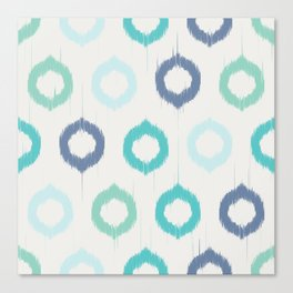 Ikat circles Canvas Print