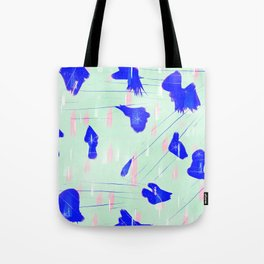 Abstract design pink and blue Tote Bag