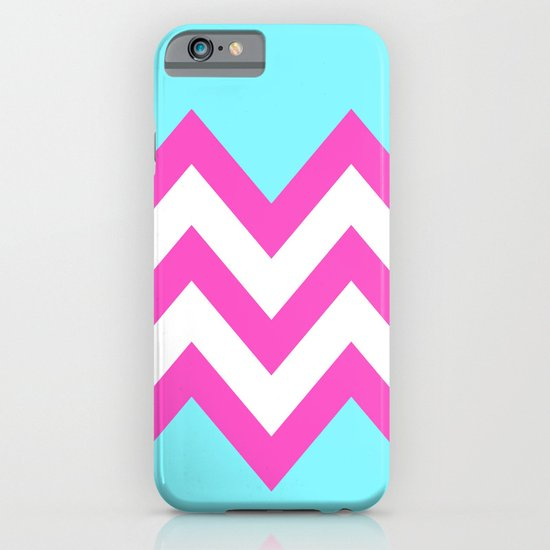 TEAL & PINK CHEVRON COLORBLOCK iPhone & iPod Case