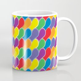 Pride Heart Scale Pattern Coffee Mug