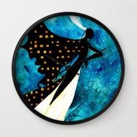 dreamcatcher Wall Clocks featuring Dreamcatcher by Verismaya