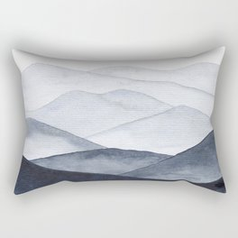 Watercolor Mountains Rectangular Pillow