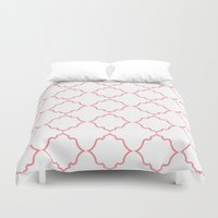 moroccan Duvet Covers featuring Moroccan Coral by Jenna Mhairi