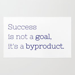 Success is not a goal, it's a byproduct. - Friday Night Lights collection Rug