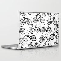 bikes Laptop & iPad Skins featuring Bikes by sarknoem