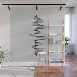 Abstract 80s Soundwave Art Music Audio black and white Musical design home wall bedroom decor Art Pr Wall Mural