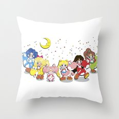 Crossover Sailor moon And Yoshi's Island Throw Pillow