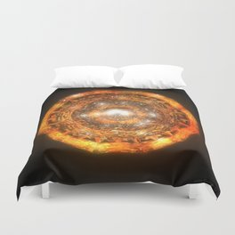 The Eye of Cyma: Fire and Ice - Frame 7 Duvet Cover