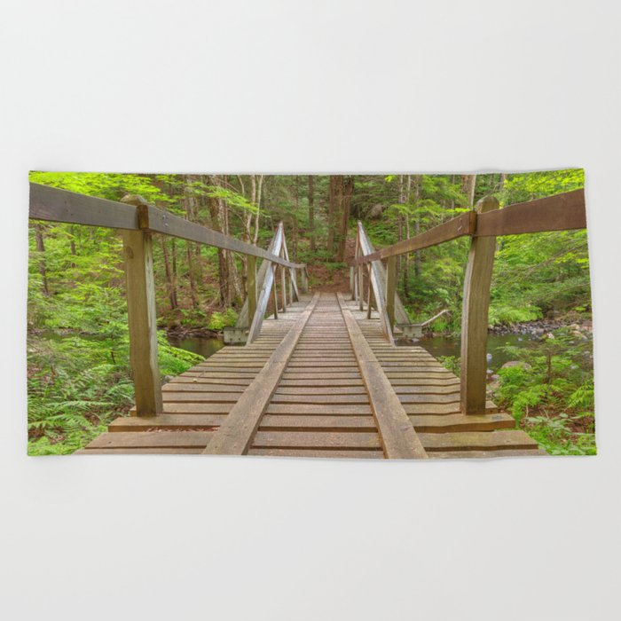 Forest Track Bridge Beach Towel