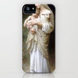 "William-Adolphe Bouguereau ""L'Innocence (Innocence)""(1893) iPhone Case"