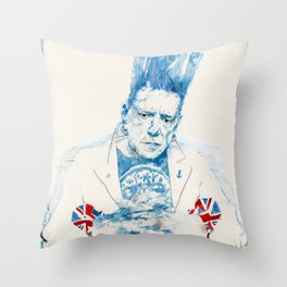 Johnny Rotten Throw Pillow