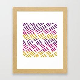 Sunset Stitch Framed Art Print