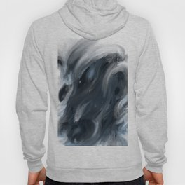 Blue Gray Swirl - abstract painting Hoody