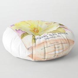 Petunia Seed Packet Floor Pillow