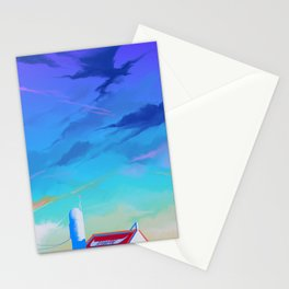 Cloudy Sky With Buffalo Stationery Cards