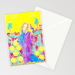 Nine of Pentacles Stationery Cards