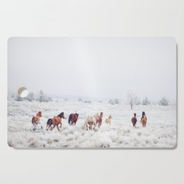Winter Horses Cutting Board