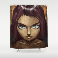 raven Shower Curtains featuring Raven by Freeminds