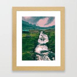Faroese stream Framed Art Print