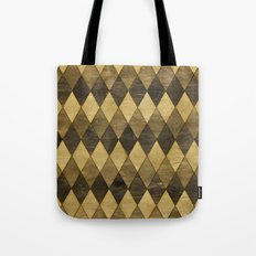 Wooden Diamonds Tote Bag