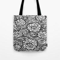evil eye Tote Bags featuring Evil Eye by Emily N3ver