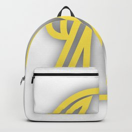 Letter M in Yellow Backpack