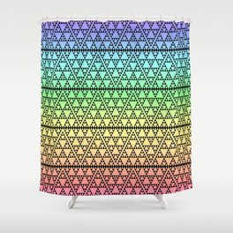 Triangles in Triangles on Rainbow Shower Curtain