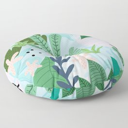 Into the jungle Floor Pillow