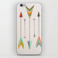 arrows iPhone & iPod Skins featuring Arrows by Hayley Lang