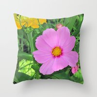 cosmos Throw Pillows featuring Cosmos by Bella Mahri-PhotoArt By Tina