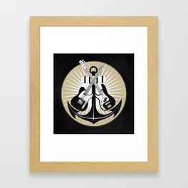 Anchoring the harmonics! Framed Art Print
