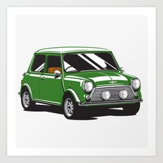 Mini Cooper Car - British Racing Green Art Print