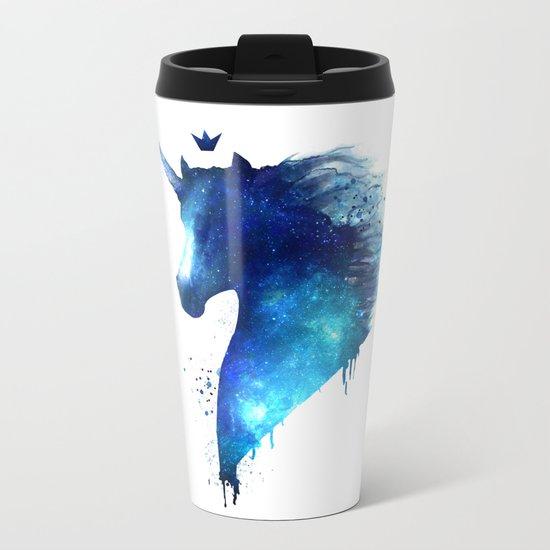cosmic Unicorn Metal Travel Mug