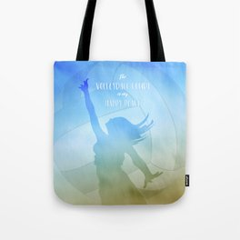 The volleyball court is my happy place beach volley player Tote Bag
