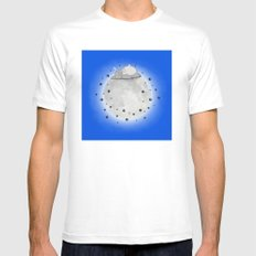 My Neighbour - Moon Nap - blue White Mens Fitted Tee MEDIUM