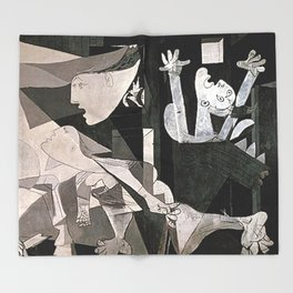 GUERNICA #2 - PABLO PICASSO Throw Blanket