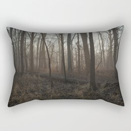 Foggy Morning in the Woods Rectangular Pillow