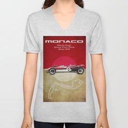 Monaco Racetrack Vintage Unisex V-Neck