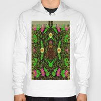 grafitti Hoodies featuring Lady Pandas Jungle grafitti by Pepita Selles