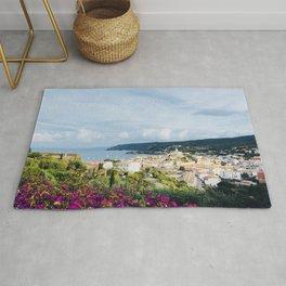Spanish Coast | Costa Brava Cadaques Coastal Mediterranean Village Riviera Art Rug