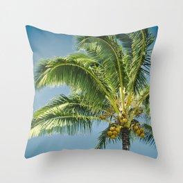 keanae hawaiian coconut palm Throw Pillow